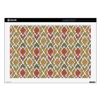 "Multi Color Wood Geo Tribal Ikat Diamond Pattern Skins For 17"" Laptops"
