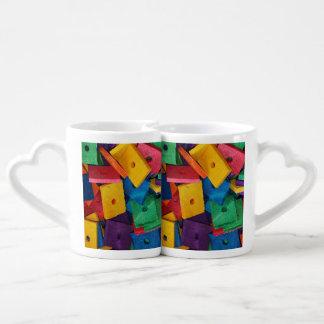 Multi-color Wood Piece design Lover's Mug