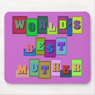 Multi-color World's best mother Mouse Pad