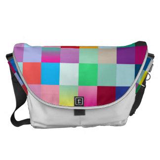 Multi coloreada bolsa de mensajeria