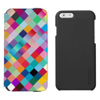 Multi coloreada geométrico funda billetera para iPhone 6 watson