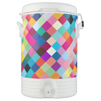 Multi coloreada geométrico enfriador de bebida igloo
