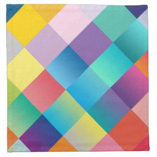 Multi coloreada geométrico servilletas