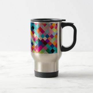 Multi coloreada geométrico taza de viaje de acero inoxidable