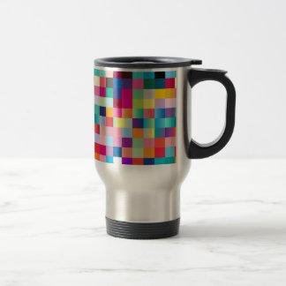 Multi coloreada taza de viaje de acero inoxidable