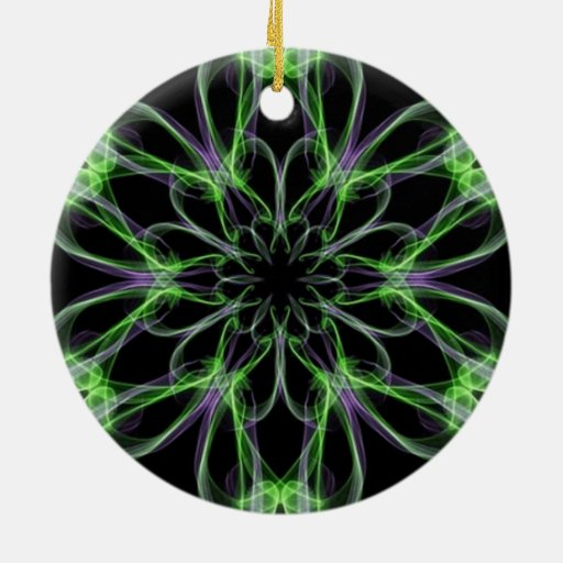 Multi Colored Abstact Art Christmas Tree Ornaments