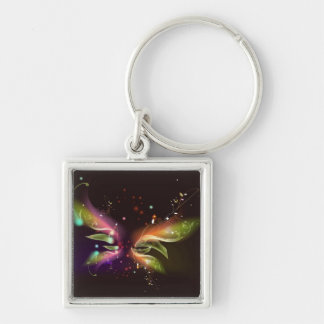Multi-colored Abstract Butterfly Keychain