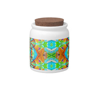 Multi Colored Abstract Chain Pattern Candy Jars