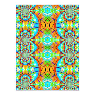 Multi Colored Abstract Chain Pattern Card