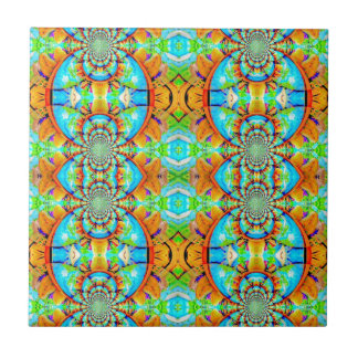 Multi Colored Abstract Chain Pattern Tiles