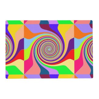 Multi Colored Abstract Circle Pattern Placemat