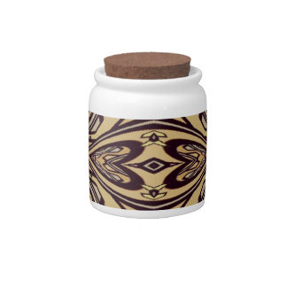 Multi Colored Abstract Floral Pattern Candy Jars
