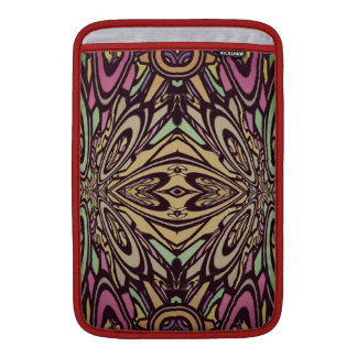 Multi Colored Abstract Floral Pattern MacBook Air Sleeve
