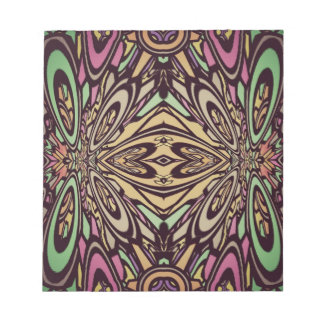 Multi Colored Abstract Floral Pattern Scratch Pad