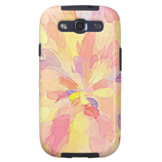 """""""Multi Colored Abstract Flower Design Pattern"""" Galaxy S3 Cover"""