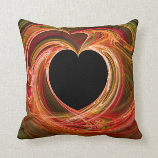 Multi-Colored Abstract Heart Pillow with Copy Spac