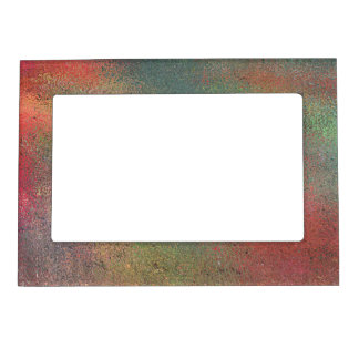 MULTI-COLORED ABSTRACT MAGNETIC PICTURE FRAME