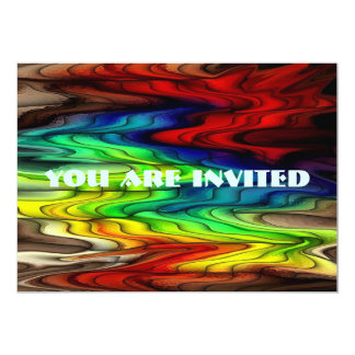 Multi Colored Abstract Pattern Card