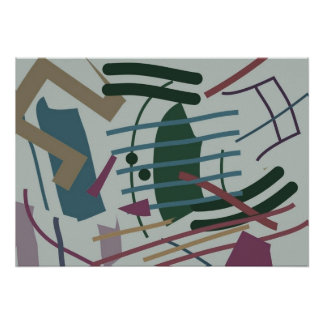 Multi Colored Abstract Poster