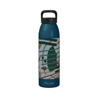 Multi Colored Abstract Reusable Water Bottles
