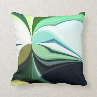 Multi-Colored Abstract Throw Pillow