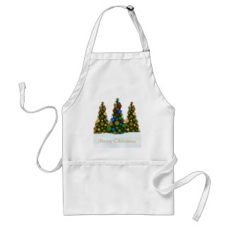 Multi Colored and Gold Christmas Tree Apron
