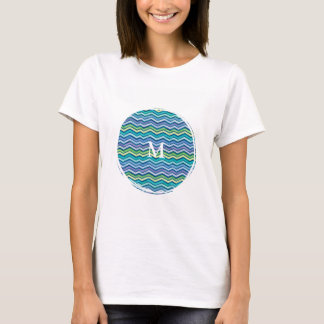 Multi Colored and Layered Chevron T-Shirt