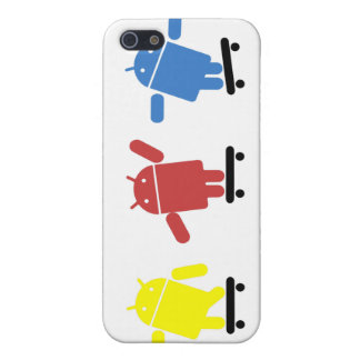 Multi Colored Android Skateboarder Covers For iPhone 5