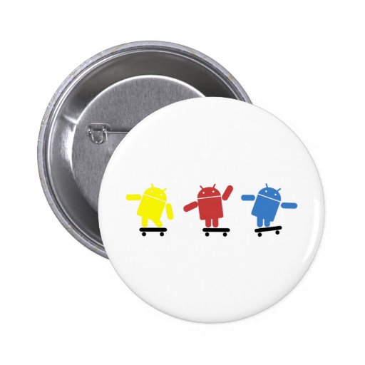 Multi Colored Android Skateboarder Pins