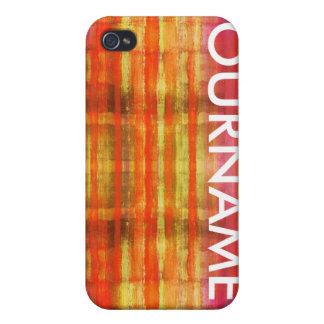 Multi Colored Art Fashion iPhone 4 Name Case iPhone 4 Case