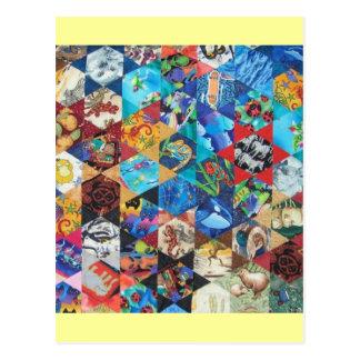 Multi Colored Arts Pattern Postcard