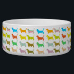 """Multi-Colored Basset Pet Bowl<br><div class=""""desc"""">Basset Rescue of Old Dominion (BROOD) promotes the humane treatment of homeless,  stray and abandoned basset hounds by providing food and shelter,  medical care and placement in adoptive homes.</div>"""