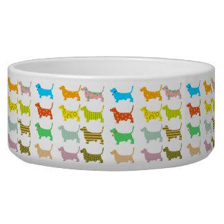 Multi-Colored Basset Pet Bowl
