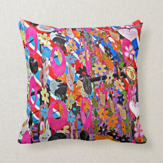 Multi-Colored Beaded Curtain Pillow