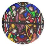 Multi Colored Bible Scene Plates