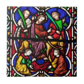 Multi Colored Bible Scene Tile