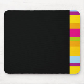 Multi colored Bright modern graphic v block design Mouse Pads