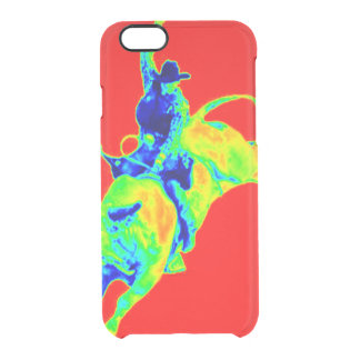 Multi-Colored Bull Rider Uncommon Clearly™ Deflector iPhone 6 Case