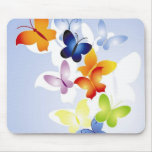 Multi Colored Butterflies Mouse Pad