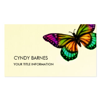 Multi Colored Butterfly Business Card