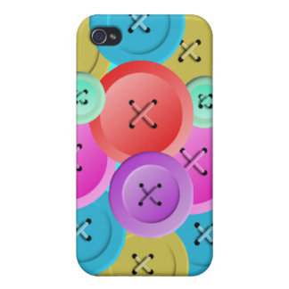 Multi-Colored Buttons iPhone 4/4S Covers