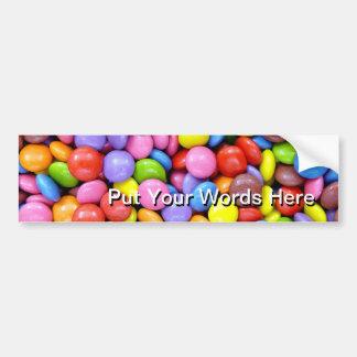 Multi-Colored Candy Car Bumper Sticker