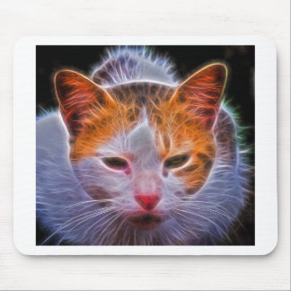 Multi Colored cats head Mouse Pad