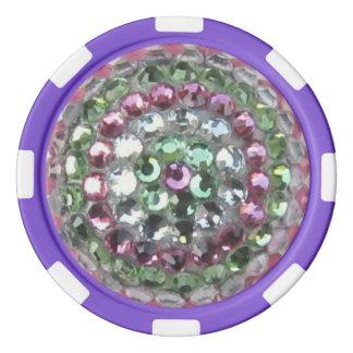 Multi-Colored Ceramic Poker Chips