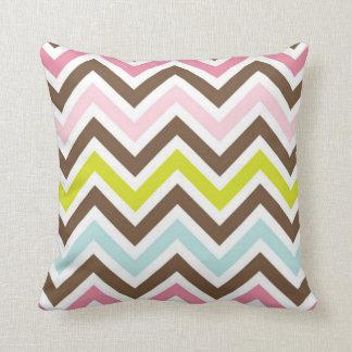 Multi Colored Chervon Throw Pillow