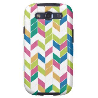 Multi Colored Chevron Samsung Galaxy S3 Cover
