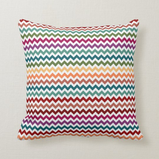 Multi-Colored Chevrons | Customizable Pillow