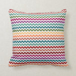 Multi-Colored Chevrons | Customizable Pillow
