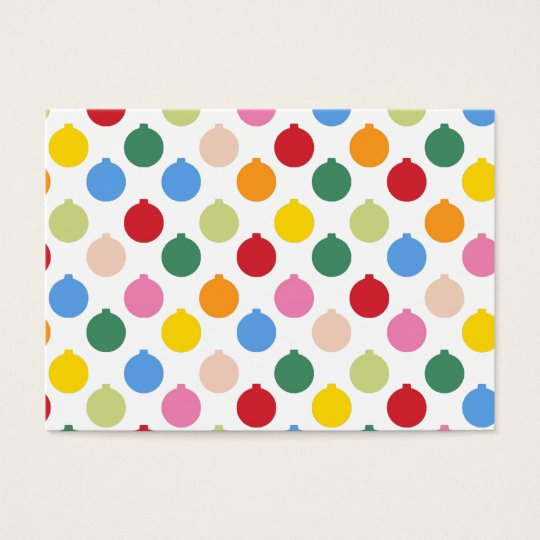 Multi-colored Christmas Ornament pattern Business Card