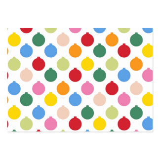 Multi-colored Christmas Ornament pattern Large Business Card